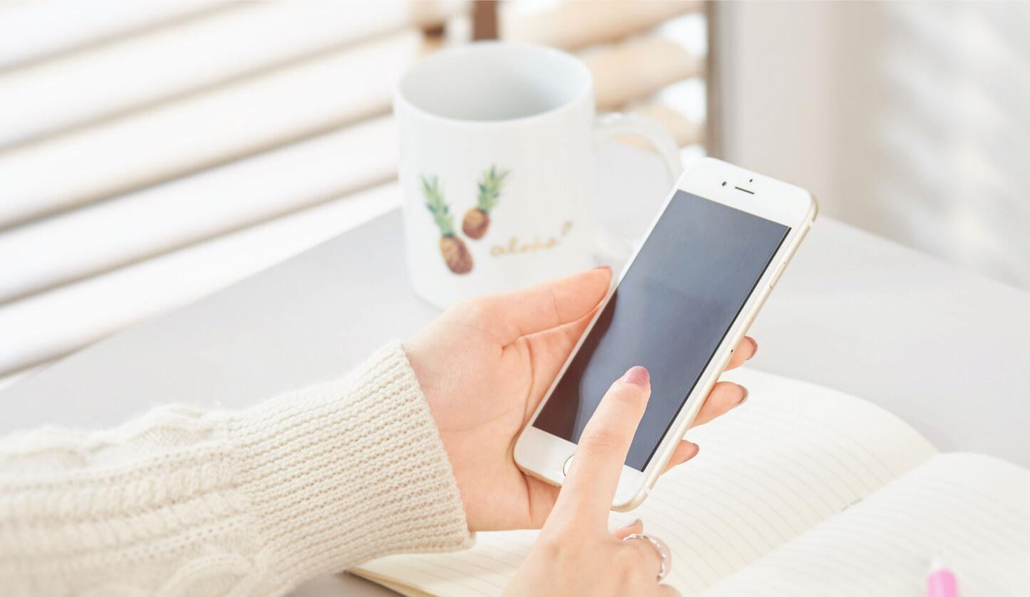 スマートフォンで簡単にコンタクトレンズの注文ができます。